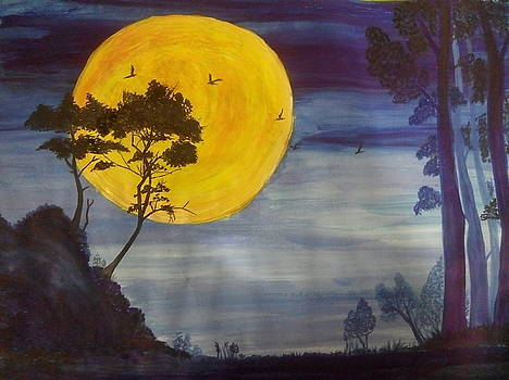 Golden Moon by Archana Saxena