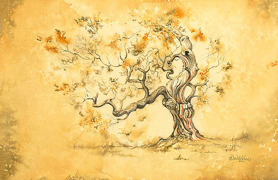 Golden Ochre Oak by David Evans