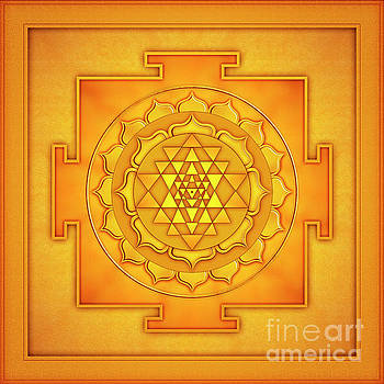 Golden Sri Yantra - Artwork 2 by Dirk Czarnota