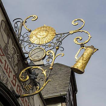 Golden Sun Sign Rudesheim by Teresa Mucha