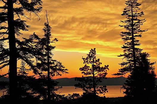 Golden Sunset 1 - Lake Tahoe - Nevada by Bruce Friedman
