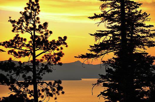 Golden Sunset 2 - Lake Tahoe - Nevada by Bruce Friedman