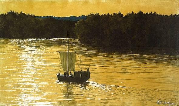 Golden Sunset by Martin Bellmann
