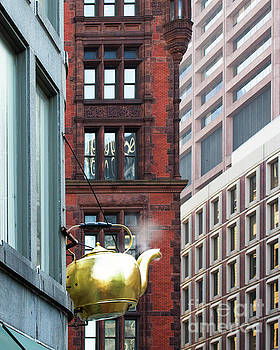 Golden Teapot 1 by Cheryl Del Toro