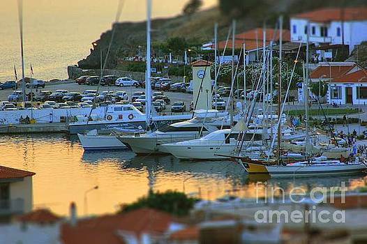 Golden Waters at the Port by Vicki Spindler