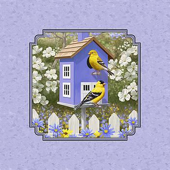 Crista Forest - Goldfinch Birdhouse Lavender