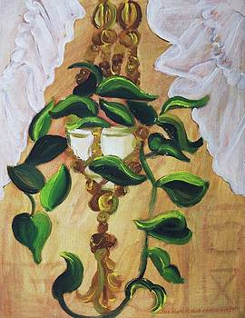 Suzanne  Marie Leclair - Goldnet Pathos and White Curtain