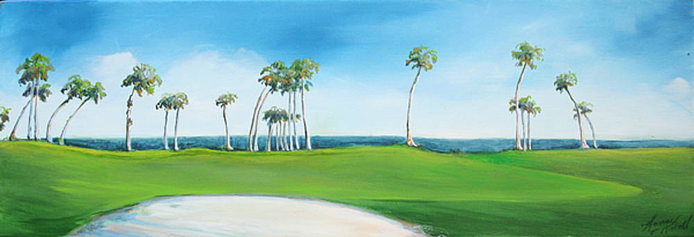 Golf Course with Palms by Michele Hollister - for Nancy Asbell