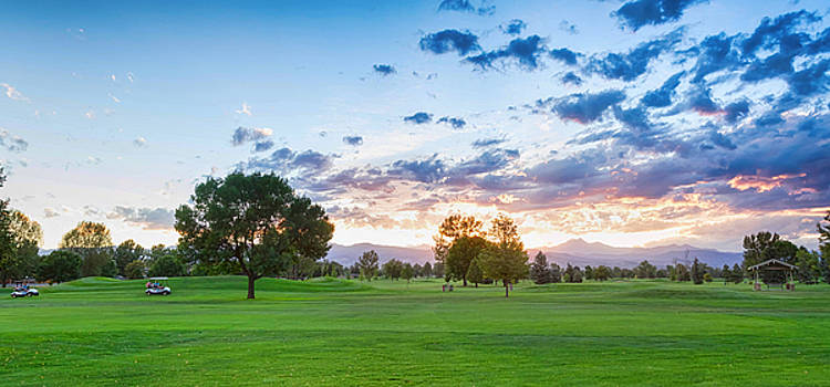 Golfers Sunset Panorama by James BO  Insogna