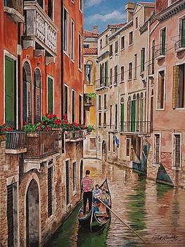 Gondola in Venice by Bill Dunkley