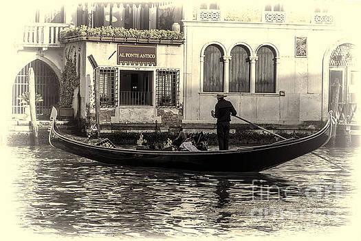 Gondola To Al Ponte Antico by Steve Rowland