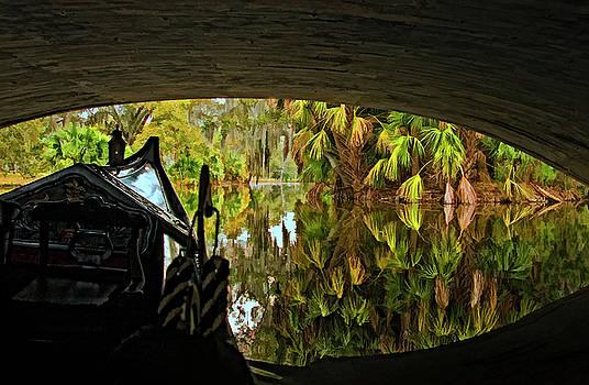 Kathleen K Parker - Gondola under a Bridge