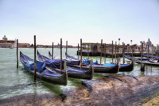 Gondolas near San Marco by John Hoey