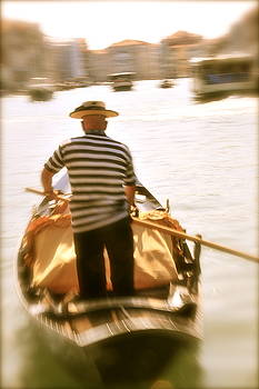 Gondolier on The Grand Canal by Alberta Brown Buller