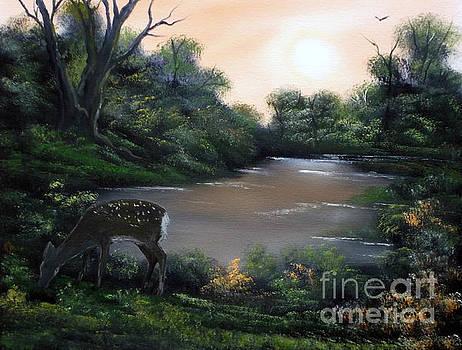 Good Morning my Deer. by Cynthia Adams