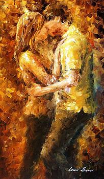 Goodbye - PALETTE KNIFE Oil Painting On Canvas By Leonid Afremov by Leonid Afremov