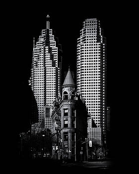 Gooderham Flatiron Building And Toronto Downtown No 2 by Brian Carson