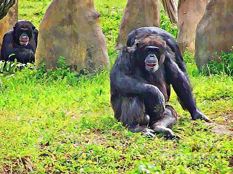 Gorilla Family by Zsuzsa Lado