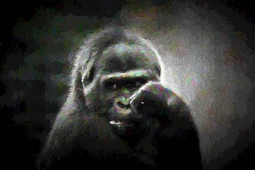 Gorilla - The Thinker by Ron Grafe