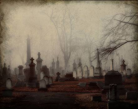 Gothicolors Donna Snyder - Gothic Fall Graveyard In Fog