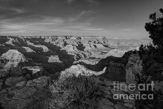 Grand Canyon National Park Spring Sunset BW by Wayne Moran