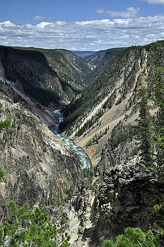 Grand Canyon of the Yellowstone by Bruce Gourley