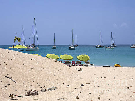 Grand Case beach in St Martin Caribbean by Louise Heusinkveld