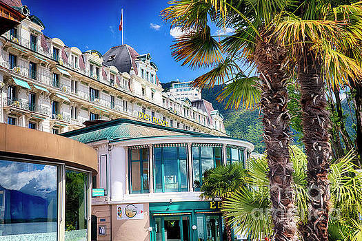 Grand Hotel in Montreux by George Oze
