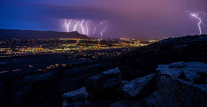 Grand Junction Light Show by JT Dudrow
