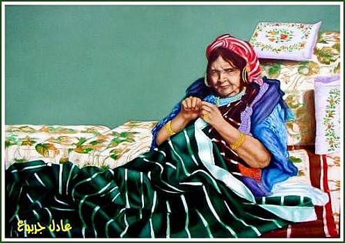 Grand mother by Adel Jarbou