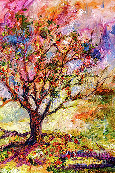 Ginette Callaway - Grandmas Apple Tree Oil Painting