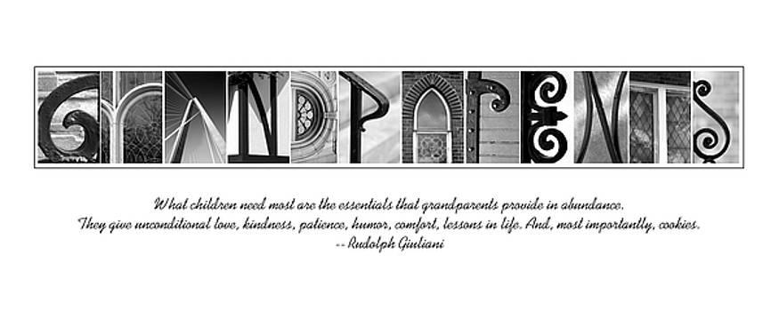 GRANDPARENTS Alphabet Art by Kathy Stanczak