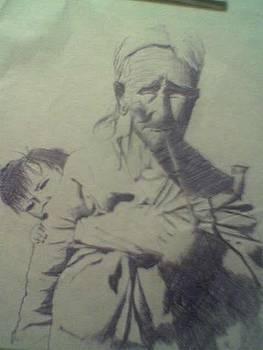 Granny And Grandson by Lalhmunlien Varte