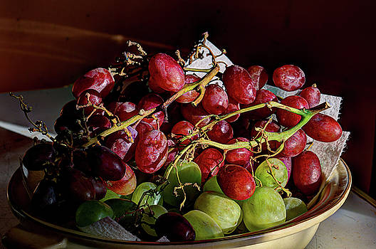 Grapes In Morning Sun by Aliceann Carlton