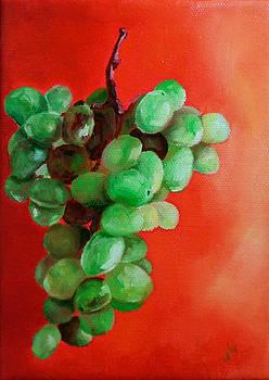 Diane Kraudelt - Grapes On Red