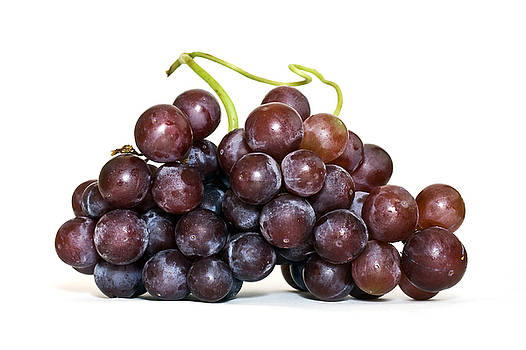 Grapes on white by Jaci Harmsen