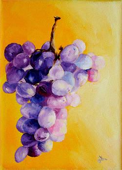 Diane Kraudelt - Grapes On Yellow