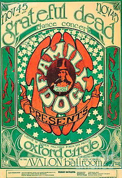 Grateful Dead Vintage Poster by Pd