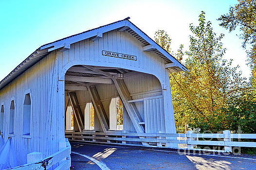 Grave Creek Covered Bridge 4 by Ansel Price