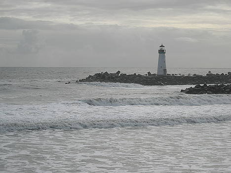 Gray Day Lighthouse by Sharon McKeegan