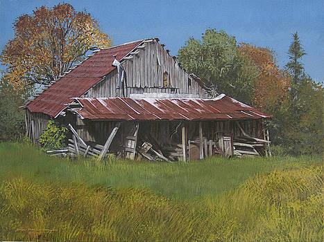 Gray Farm Building by Peter Muzyka
