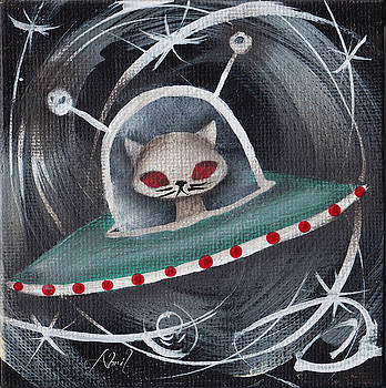 Gray Space Cat by Abril Andrade Griffith