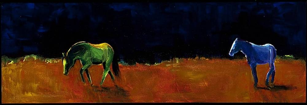 Grazing In The Moonlight by Frances Marino