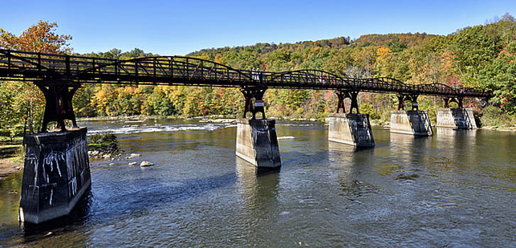Great Allegheny Passage Trail over the Youghiogheny River by Brendan Reals
