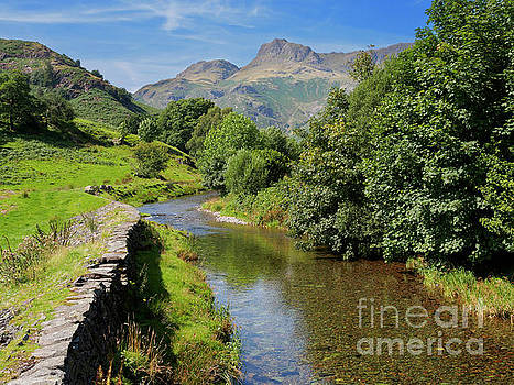 Great Langdale Beck with Harrison Stickle and Pike of Stickle by Louise Heusinkveld