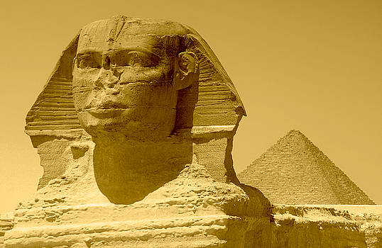 Great Sphinx and Pyramid by Pamela Kelly Phillips