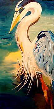 Great White Heron by Becka Noel