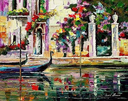 Greece - PALETTE KNIFE Oil Painting On Canvas By Leonid Afremov by Leonid Afremov