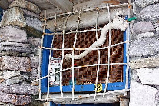 Yvonne Ayoub - Greece Rustic window