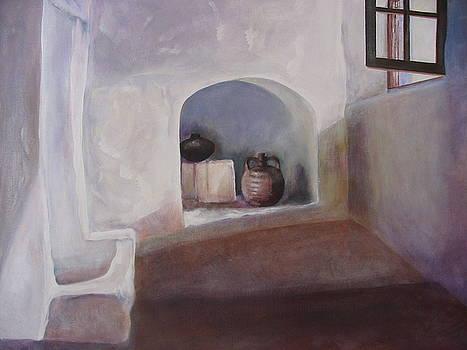 Greek Monastery Interior by Eve Corin